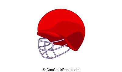 icône, animation, grillon, rouges, casque