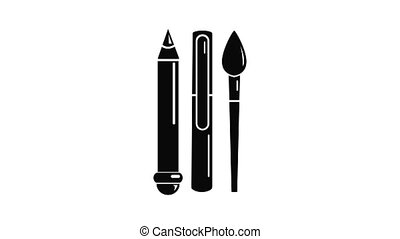 icône, animation, papeterie