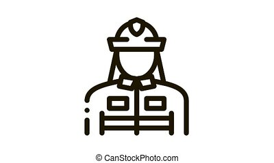icône, animation, pompier, silhouette