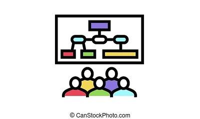 icône, animation, recherche, couleur, marché, réunion