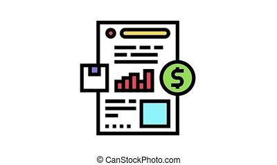 icône, animation, recherche, couleur, rapport marché