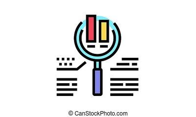 icône, animation, recherche, diagramme, couleur