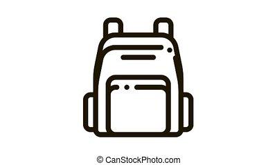 icône, animation, rucksack