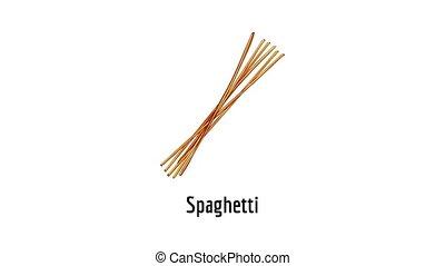 icône, animation, spaghetti