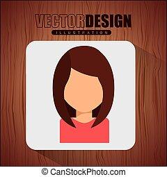 icône, avatar, conception