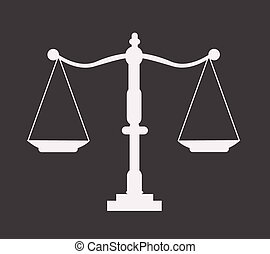 icône, balance justice