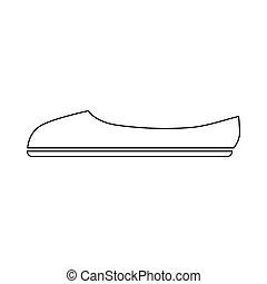 icône, ballet, contour, style, chaussure