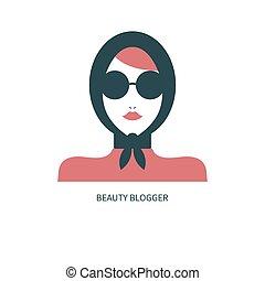 icône, blogger, mode