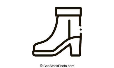 icône, botte, animation, chaussure
