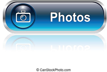 icône, bouton photo, galerie