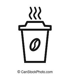 icône, café, vecteur, illustration, tasse