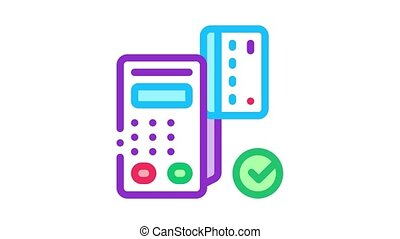 icône, carte, terminal, pos, animation