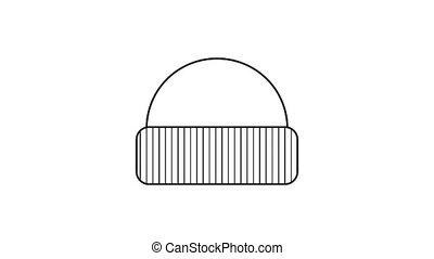 icône, chapeau, animation