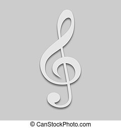 icône, clef triple