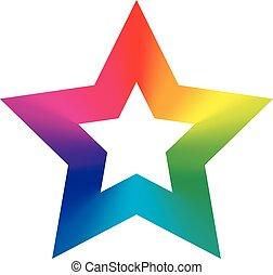 icône, coloré, étoile