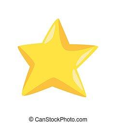 icône, coloré, étoile, conception, jaune