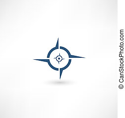 icône, compas