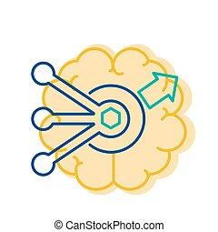 icône, concept, résoudre, solution, simple, problème, trouver