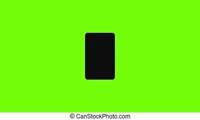 icône, contrôle, smartphone, bourdon, animation