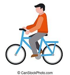 icône, cycliste