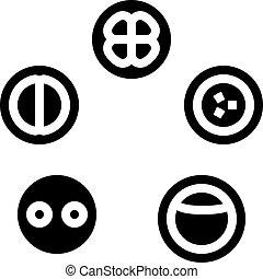 icône, développement, cellule, illustration, glyph, vecteur