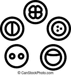 icône, développement, cellule, illustration, vecteur, ligne