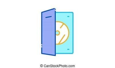 icône, disque, animation, égratignure, protection