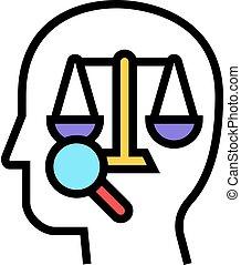 icône, droit & loi, couleur, illustration, droit, vecteur, dictionnaire