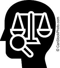 icône, droit & loi, illustration, glyph, droit, vecteur, dictionnaire