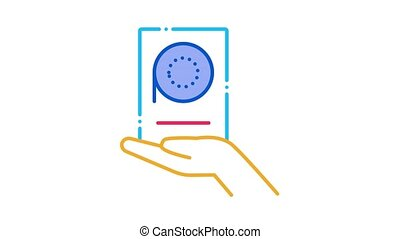 icône, exprimez rapporteur, animation