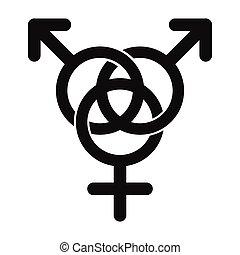 icône, famille, homosexuel