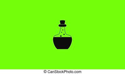 icône, flacon, potion, animation