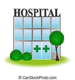 icône, hôpital, vecteur