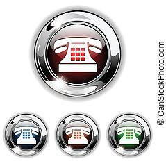 icône, illu, vecteur, téléphone, bouton