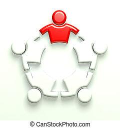 icône, illustration, 3d, business