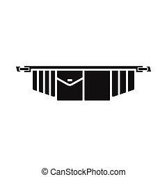 icône, illustration, outillage, toile, toolbag, stock., vecteur, élément, signe., ceinture