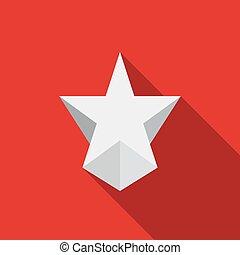 icône, moderne, étoile