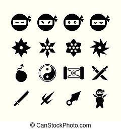 icône, ninja
