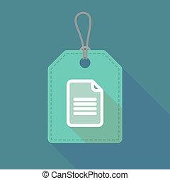 icône, ombre, document, long, étiquette