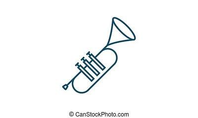 icône, plat, icon., style., musique, musique, graphics., mouvement, enregistrement, voix