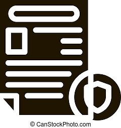 icône, police, illustration, rapport, worksheet