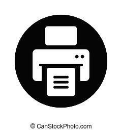 icône, publier, imprimante, dehors, impression, document, fichiers, impression