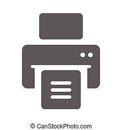 icône, publier, imprimante, dehors, impression, document, gris, fichiers, impression