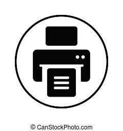 icône, publier, imprimante, dehors, impression, document, noir, fichiers, impression