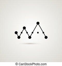 icône, relier, résumé, vecteur, zag, zig, conception