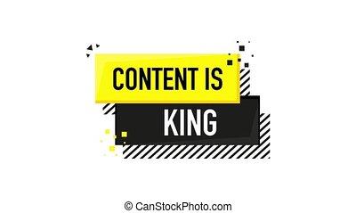 icône, roi, graphics., mouvement, blanc, plat, contenu, arrière-plan.