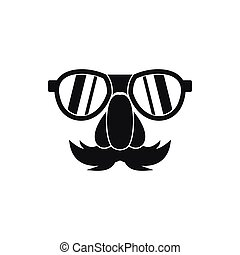 icône, simple, style, clown, figure