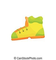 icône, style, chaussures, dessin animé