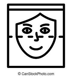 icône, style, reconnaissance, figure, contour