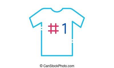 icône, t-shirt, animation, nombre